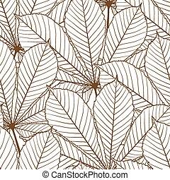 ρυθμός , πρότυπο , φύλλα , seamless, φθινόπωρο , retro