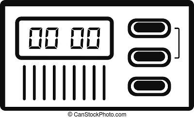 ρυθμός , ρολόι , απλό , retro , ψηφιακός , εικόνα