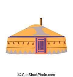 ρυθμός , στοκ , στέγαση , patterns., τέντα , σύμβολο , tent., αρχαίος , μογγολικός , mongols., μογγολία , εικόνα , μικροβιοφορέας , γελοιογραφία , μονό , illustration.