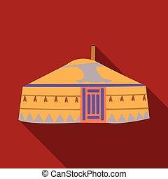 ρυθμός , στοκ , στέγαση , patterns., τέντα , σύμβολο , tent., αρχαίος , μογγολικός , mongols., μογγολία , εικόνα , μικροβιοφορέας , διαμέρισμα , μονό , illustration.