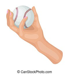ρυθμός , σύμβολο , web., εικόνα , χέρι , μονό , μικροβιοφορέας , μπέηζμπολ , εικόνα , γελοιογραφία , ball., στοκ