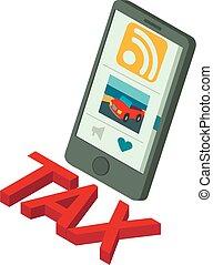 ρυθμός , φορολογώ , εικόνα , isometric , online