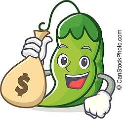 ρυθμός , χρήματα , χαρακτήρας , αρακάς , τσάντα , γελοιογραφία