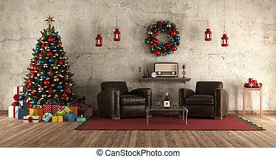 ρυθμός , retro , αναμονή , xριστούγεννα , δωμάτιο
