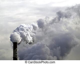 ρύπανση , εργοστάσιο , αέραs