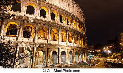 ρώμη , κολοσσαίο , ιταλία , νύκτα