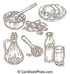 σάλτσα , soybeans , έλαιο , εικόνα , χέρι , μικροβιοφορέας ,...