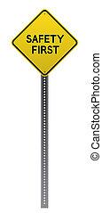 σήμα , ασφάλεια , δρόμοs , κίτρινο , πρώτα