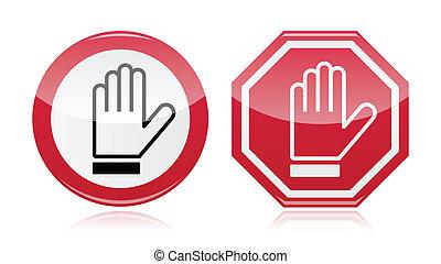 σήμα , δρόμοs , παραγγελία , σταματώ , χέρι