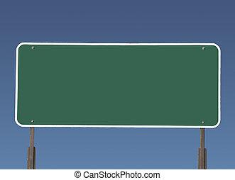 σήμα , εθνική οδόs , πράσινο , κενό , μεγάλος