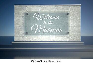 σήμα , μουσείο , καλωσόρισμα , εικόνα