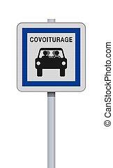 σήμα , carpool , γαλλίδα , δρόμοs