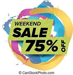 σαββατοκύριακο , σήμα , πώληση