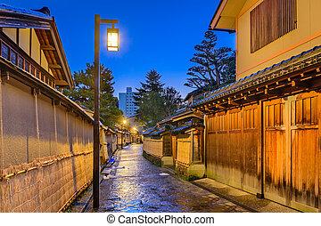 σαμουράι , περιοχή , από , kanazawa, ιαπωνία