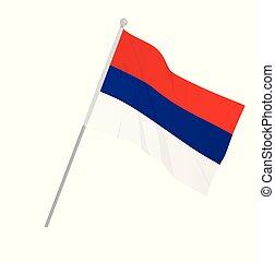 σερβία , εθνική σημαία
