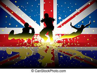 σημαία , άγαλμα , βρεταννίδα , αθλητισμός