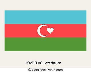 σημαία , αγάπη , αζερμπαϊτζάν