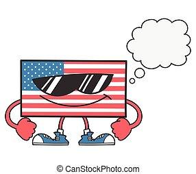 σημαία , αμερικανός , αφρίζω , λόγοs , γυαλλιά ηλίου