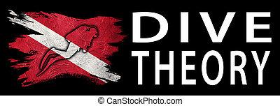 σημαία , απότομη κάθοδος κατεβάζω , σημαία , κατάδυση με φιάλη , θεωρία , δύτης