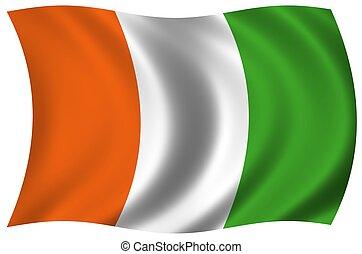 σημαία , από , ακτή ελεφαντοστού