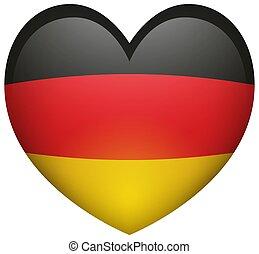 σημαία , από , γερμανία , μέσα , αγάπη αναπτύσσομαι