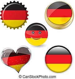 σημαία , από , γερμανία , μέσα , διάφορος , αναπτύσσομαι