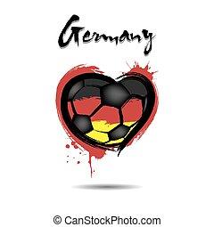 σημαία , από , γερμανία , μέσα , ο , μορφή , από , ένα , καρδιά