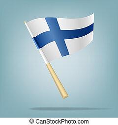 σημαία , από , φινλανδία , μικροβιοφορέας , illustratio