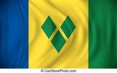 σημαία , από , st. vincent , και , γρεναδίνη