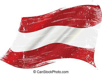 σημαία , αυστριακός , grunge