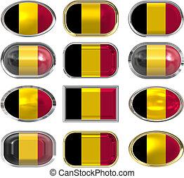 σημαία , βέλγιο , δώδεκα , κουμπιά
