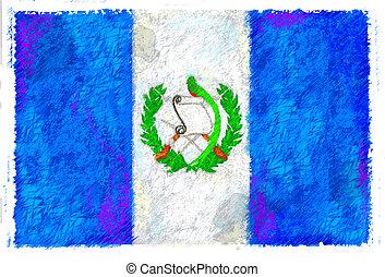 σημαία , γουατεμάλα , ζωγραφική