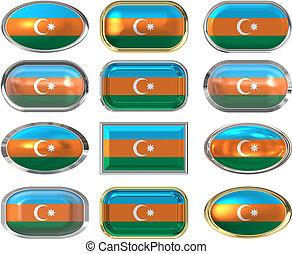 σημαία , δώδεκα , αζερμπαϊτζάν , κουμπιά