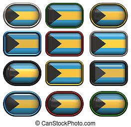 σημαία , δώδεκα , κουμπιά , bahamas