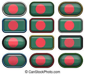 σημαία , δώδεκα , μπάνγκλαντές , κουμπιά