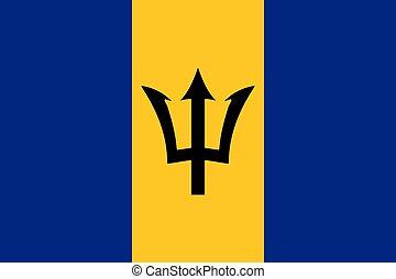 σημαία , εθνικός , barbados
