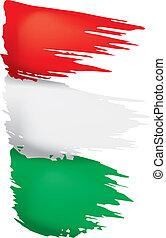 σημαία , εικόνα , μικροβιοφορέας , φόντο , ουγγαρία , άσπρο