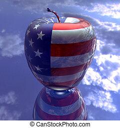 σημαία , εμάs , πλοκή , μήλο