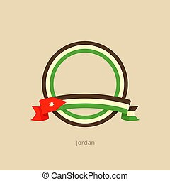 σημαία , ιορδανία , κύκλοs , ταινία
