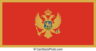 σημαία , μαυροβούνιο