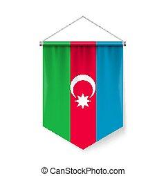 σημαία , μικρή σημαία , αζερμπαϊτζάν , εικόνα