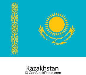 σημαία , μικροβιοφορέας , εξοχή , kazakhstan., illustration.