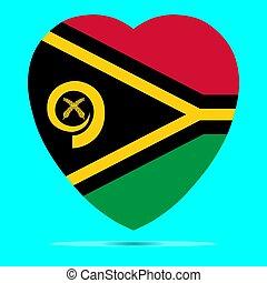 σημαία , μικροβιοφορέας , σχήμα , vanuatu , καρδιά