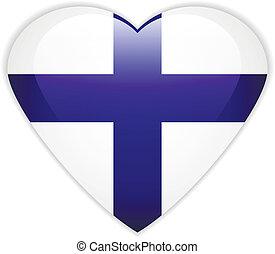 σημαία , φινλανδία , button.