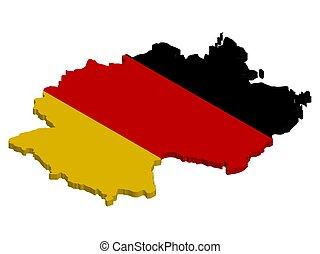 σημαία , 3d , γερμανία , μικροβιοφορέας , χάρτηs