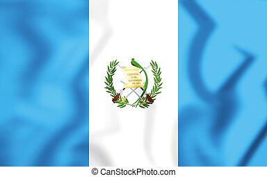 σημαία , guatemala., 3d