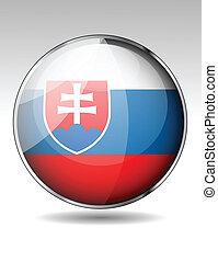 σημαία , slovakia , κουμπί