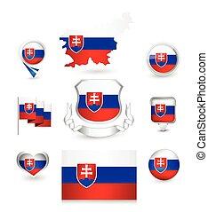 σημαία , slovakia , συλλογή