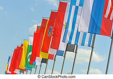 σημαίες , αέρας