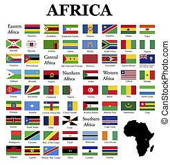 σημαίες , από , αφρική